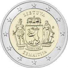 """Жемайтия, серия """"Литовские этнографические регионы"""". 2 евро 2019 года. Литва (UNC)"""