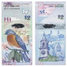 Банкнота  2 доллара 2009 (Pick 57b). Бермудские острова. Из банковской пачки (UNC)