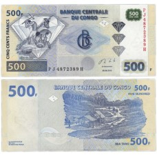 Банкнота 500 франков 2013 год. Конго. Pick 96b. Из банковской пачки (UNC)