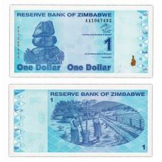 Банкнота 1 доллар 2009 год. Зимбабве . Pick 92. Из банковской пачки (UNC)