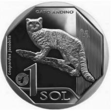 Андская кошка. 1 соль 2019 года. Перу. Из банковского ролла (UNC)