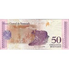 50 боливар 2018 года. Венесуэла. Из банковской пачки (UNC)