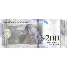 200 боливар 2018 года. Венесуэла. Из банковской пачки (UNC)