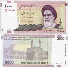 Банкнота 2000 риалов 2005 года. Иран. Pick 144d. Из банковской пачки (UNC) Подпись 36