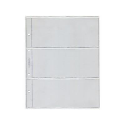 "Лист для хранения 3-х банкнот. Стандарт ""OPTIMA"". Размер 200х250 мм СОМС (ЛБ3-O)"