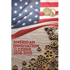 Капсульный альбом для монет серии «Изобретения Америки» в шубере. Американские инновации