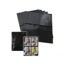 Лист для открыток, фото и  банкнот  4 ячейки на чёрной основе (ЛЧФ4-G, двухсторонний). СОМС