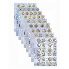 Комплект разделителей для юбилейных 10-ти рублевых монет России 2020 г.  Формат OPTIMA
