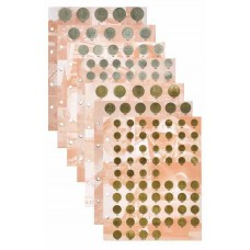 Комплект разделителей для коллекции разменных монет СССР.  Формат OPTIMA
