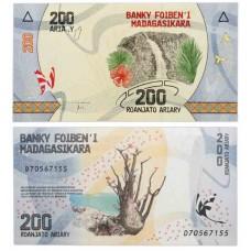 Банкнота 200 ариари 2017 года. Мадагаскар. UNC