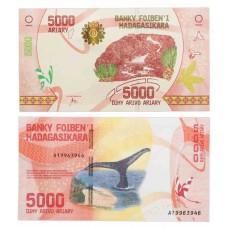 Банкнота 5000 ариари 2017 года. Мадагаскар. UNC