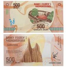 Банкнота 500 ариари 2017 года. Мадагаскар. UNC