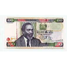 Банкнота 100 шиллингов 2010 года. Кения UNC