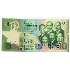 Банкнота 10 седи 2015 года. Гана. UNC