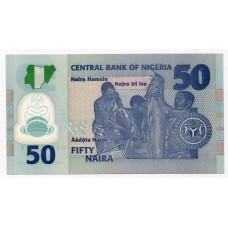Полимерная банкнота 50 найра 2018 года. Нигерия. UNC