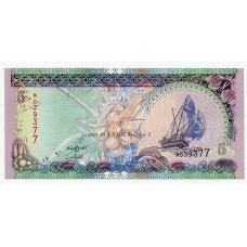 Банкнота 5 руфий 2011 года. Мальдивы. KM# 18. UNC