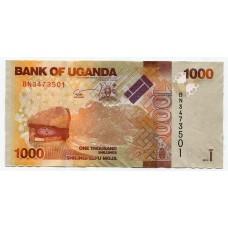 Банкнота 1000 шиллингов 2013 года. Уганда. UNC