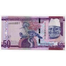 Банкнота 50 даласи 2015 года. Гамбия. UNC