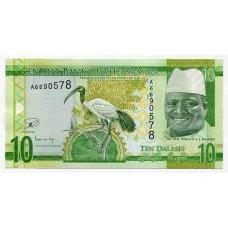Банкнота 10 даласи 2015 года. Гамбия. UNC