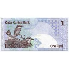 Банкнота 1 риал 2008 года Катар. Из банковской пачки