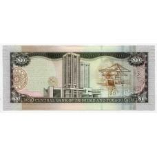 Банкнота 10 долларов 2006 года  Тринидад и Тобаго. Из банковской пачки