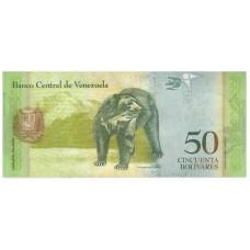 Банкнота 50 боливар 2015 год. Венесуэла. UNC