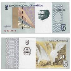 Банкнота 5 кванз 2012 года. Ангола UNC