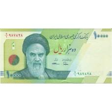 Банкнота 10000 риалов 2017 года. Иран (UNC)