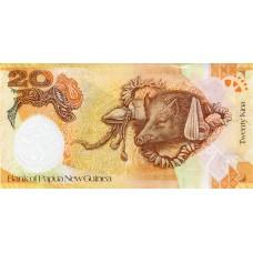 Банкнота 20 кина 2008 года. 35 лет Банку - Папуа. Новая Гвинея (UNC)