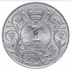 Cеребряный юбилей царствования Елизаветы II. 1 крона (25 пенсов)  1977 год. Великобритания (из обращения)