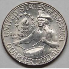 25 центов 1976 США Барабанщик, 200 лет Независимости, двор D, из обращения