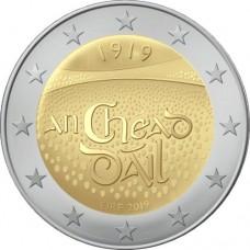 100-летие со дня первого заседания Дойл Эрен. Монета 2 евро 2019 года. Биметалл. Ирландия (UNC)