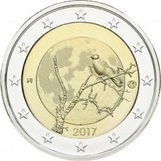 Природа Финляндии. 2 евро 2017 года.Финляндия (UNC)