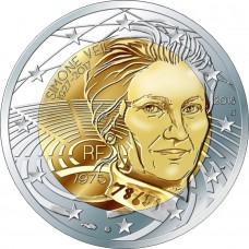 Симона Вейль. 2 евро 2018 года.  Франция (UNC)