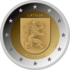 Историческая область Курземе. 2 евро 2017 года. Латвия (UNC)