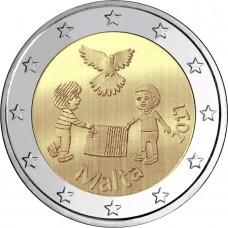 Мир. 2 евро 2017 года. Мальта (UNC)