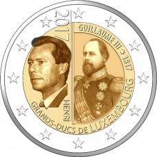 200 лет со дня рождения Великого герцога Виллема III. 2 евро 2017 года.  Люксембург. (UNC)