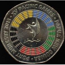 XV Тихоокеанские игры 2015 года.  50 тойя 2015 год,. Папуа - Новая Гвинея.  (UNC)