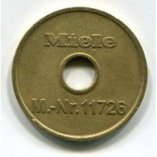 Жетон - Miele M.-Nr. 11726. Германия