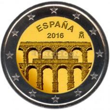 Сеговия. 2 евро 2016 года. Испания