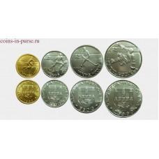 Набор монет - Хоккей на роликах с мячом, Португалия, 1982 год (4 монеты)