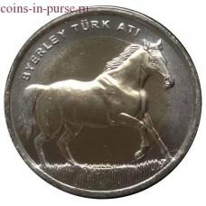 Лошадь. 1 лира 2014 года. Турция (UNC)