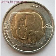 Слон. 1 лира 2009 года. Турция (UNC)