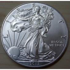 1 доллар США «Шагающая свобода» 1 унция серебра 2013 года. США